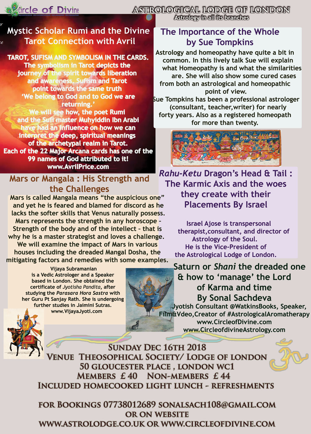 Upcoming Talks/Events – Circle of Divine Astrology